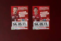 SV Fellbach Volleyball Spieltagsplakat
